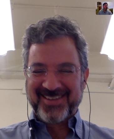 Patrick upon seeing Levi's costume via Skype.
